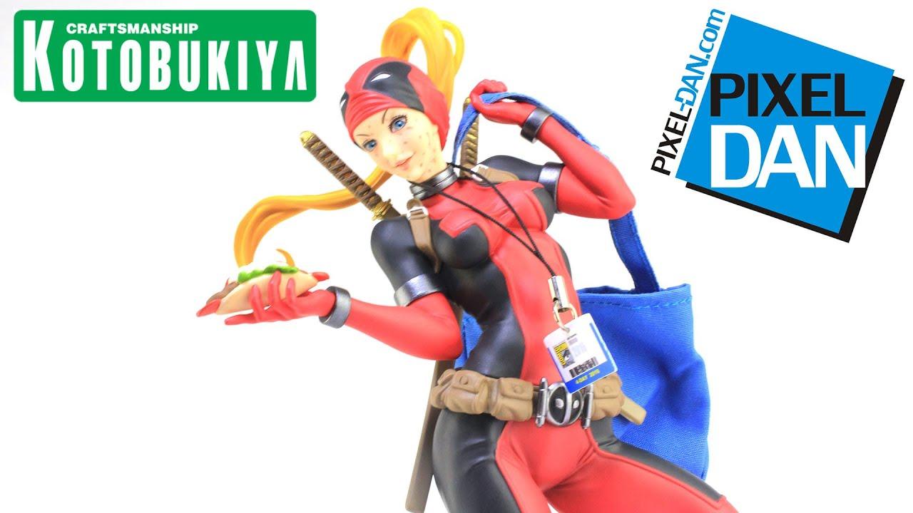 SDCC 2016 Kotobukiya Lady Deadpool Exclusive Bishoujo Statue Marvel Comics
