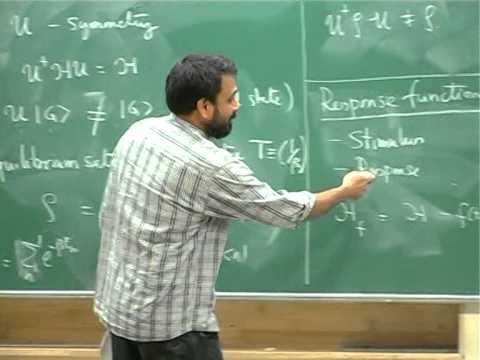 Vijay Shenoy - Review of many body field theory   I