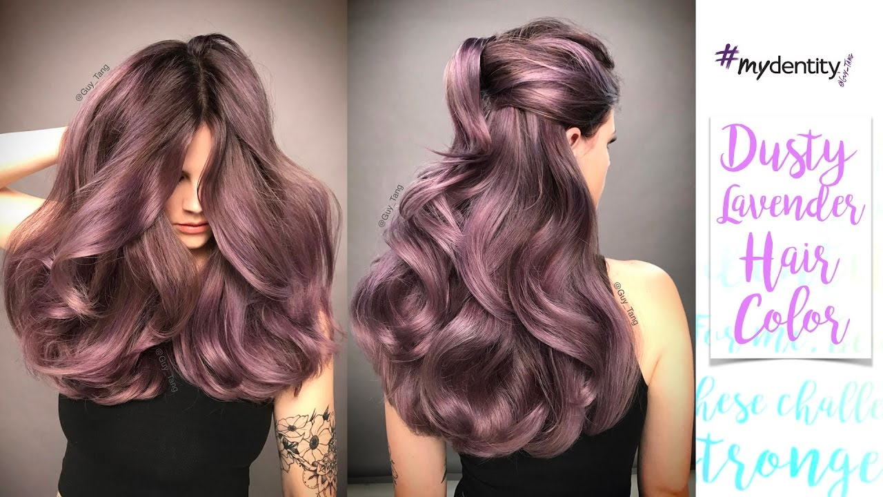 Dusty Lavender Hair Color - YouTube