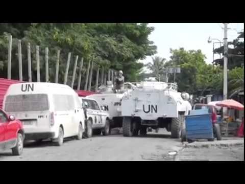 Minustah Vs manifestants ( Haiti )