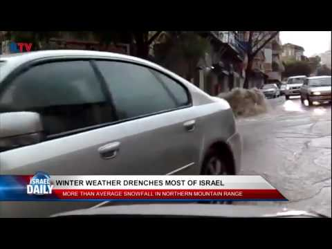 Winter Weather Drenches Israel