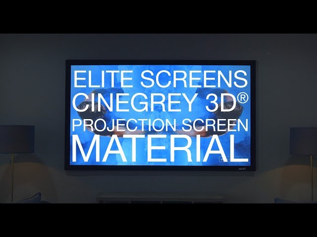 The BEST Projection Screen - Elite Screens CineGrey 3D® ISF Certified Projection Screen Material