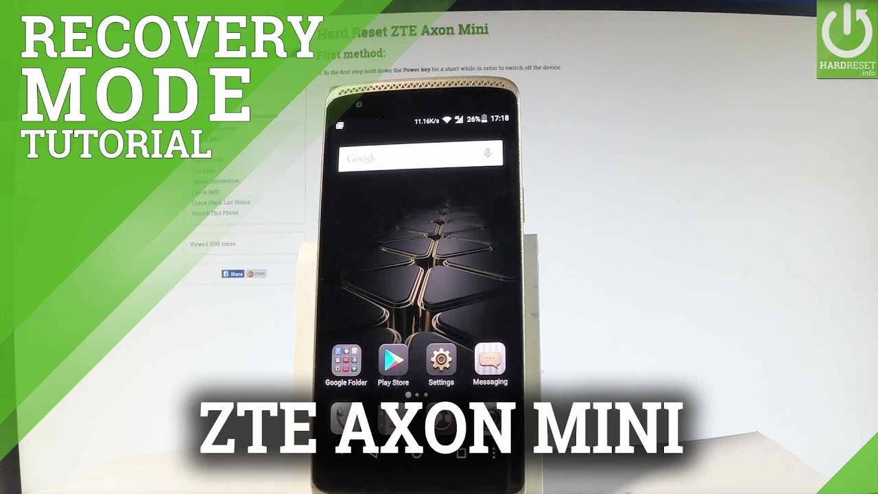 ZTE Axon Mini RECOVERY MODE / How to Enter Recovery Mode