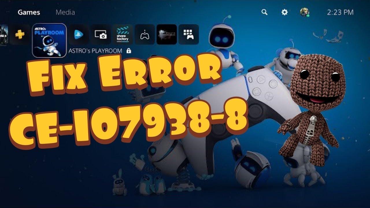 PS5 Hata Kodunu Düzeltme [CE-107938-8]