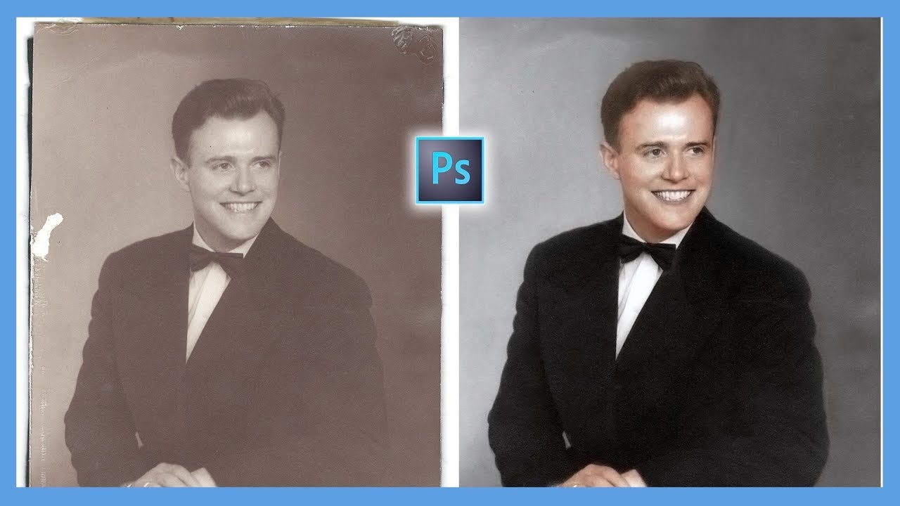 how to add color to old photos in photoshop