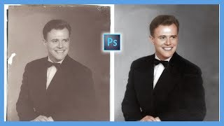 How to Repair and Colorize Old Photos (Adobe Photoshop CC Tutorial)