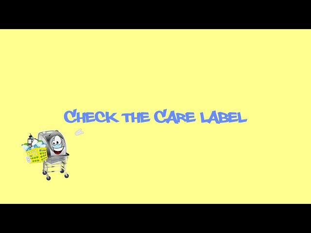 Check the Care Label