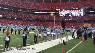 Prayer & National Anthem before start of Chick-Fil-A Kickoff Football Game