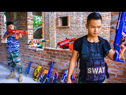 Nerf War Commando & Brave Warriors Nerf Guns Grand Theft Auto Group Rescue Gentleman thumbnail