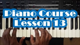 Piano Lesson 13 - How To Play Piano - Finger Numbers and Easy Piano Scale