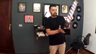 Como fazer um Barber Pole (Poste de Barbearia) - Barbearia Santhiago