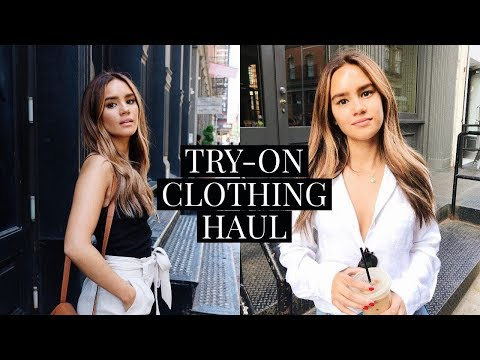 CLOTHING HAUL! TOPSHOP, NORDSTROM, REFORMATION, FREE PEOPLE! | DACEY CASH