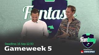 FanTV Fantasy S02: Gameweek 5