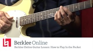Learning to Play in the Pocket - Blues Guitar Lesson