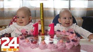 PRVI ROĐENDAN razdvojenih sijamskih blizanki Kristine i Valentine!