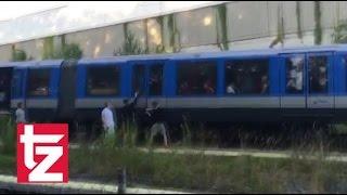بالفيديو.. القدر ينقذ جماهير السيتى من الموت فى قطار ميونخ قبل ودية بايرن