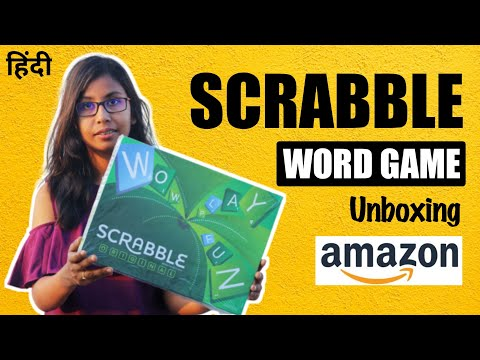 Scrabble Word Game Unboxing | Word Scramble Game How To Play | How To Play Scrabble Game In Hindi
