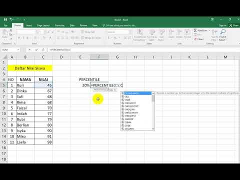 Cara Mudah Menghitung Percentile di Microsoft Excel - YouTube