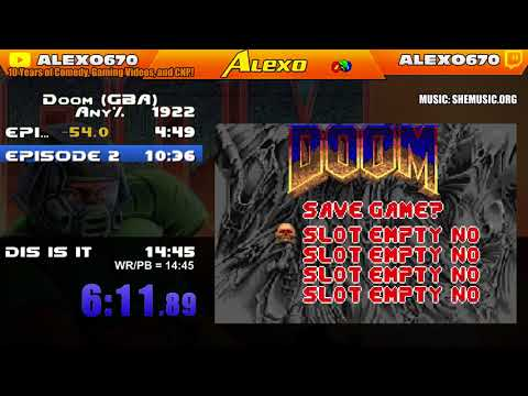DOOM finnished in 13 Minutes, No Cheats! (GBA World Record