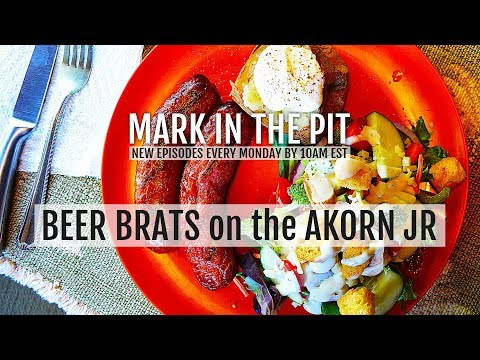 Don't Burn The Beer Brats – Baked Potato And Salad (Char-Griller Akorn Jr.)
