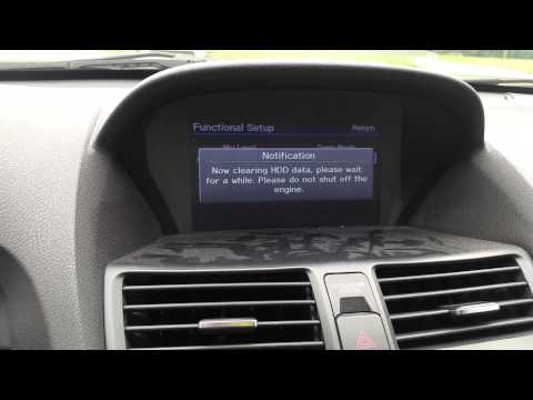 HOW TO CLEAR DELETE YOUR HDD HARD DRIVE ON ANY HONDA OR ACURA