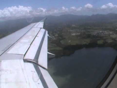 Air Canada landing at Pointe-a-pitre (TFFR/PTP)[Guadeloupe]