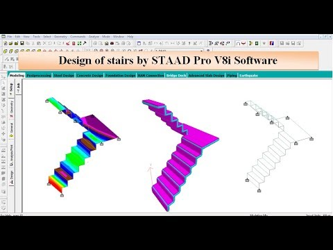 Design of Stairs by STAAD Pro V8i Software thumbnail
