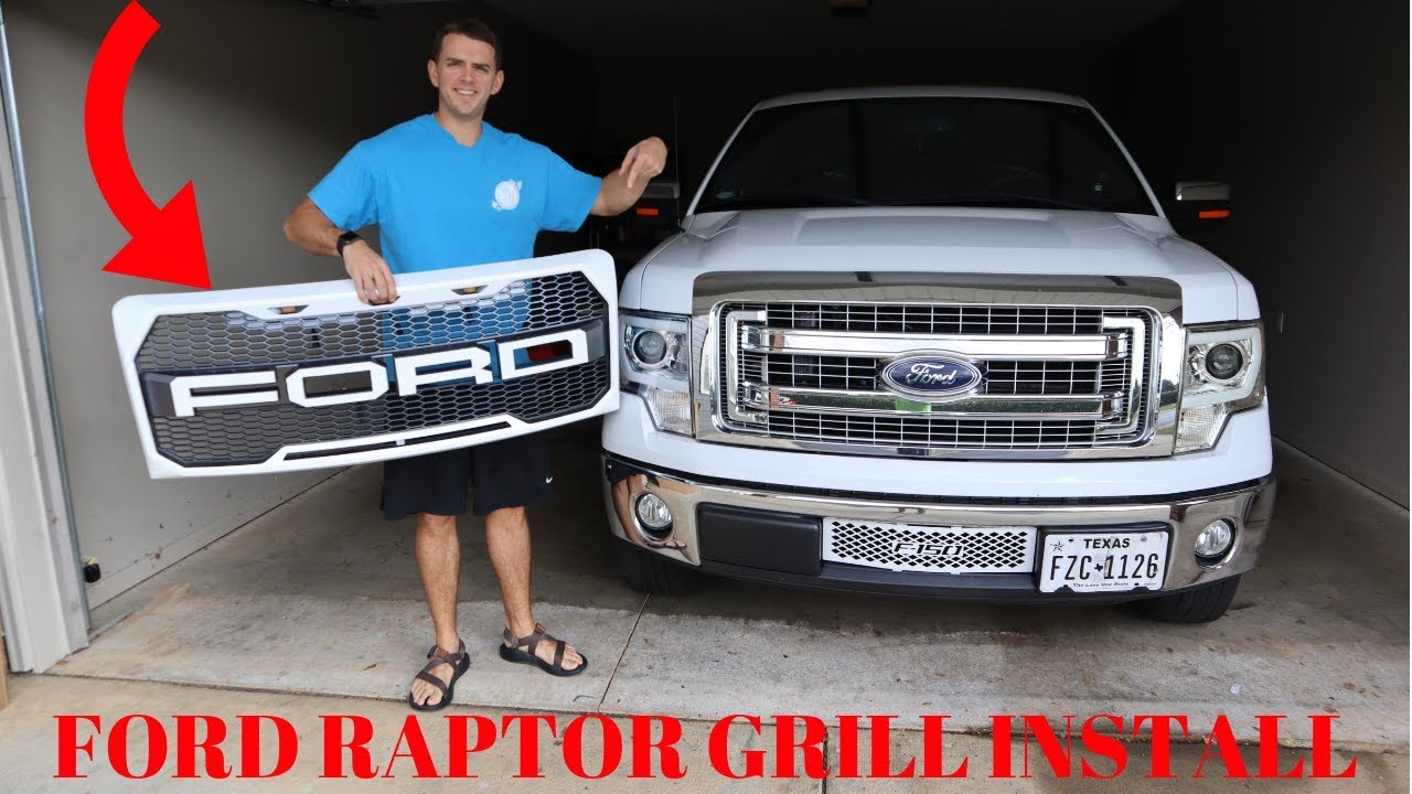 2014 Ford F150 Grill >> 2009-2014 F-150 Raptor Grill Install - YouTube