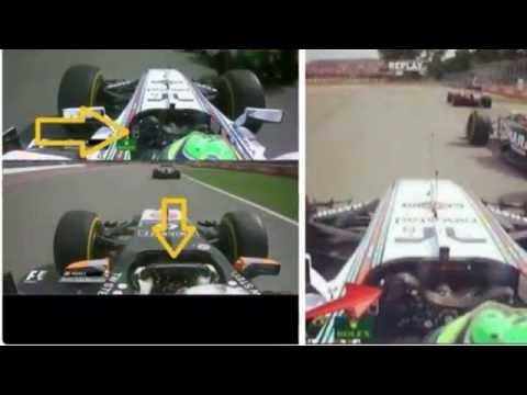 Checo perez muestra pruebas de que Massa fue el culpable en el choque del GP de Canada