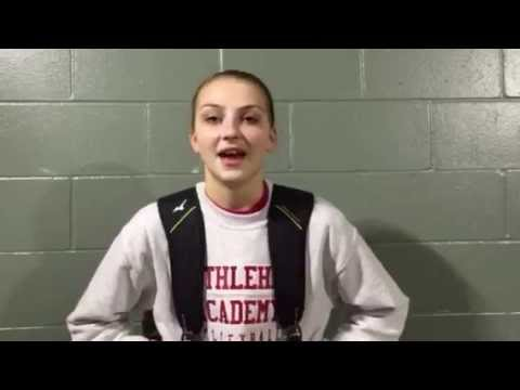 Post-game interview with Bethlehem Academy's Lauren Mathews