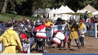 GERMANY v CANADA in Medieval Armoured Combat 10 v 10 during IMCF World Championship in Scotland 2018