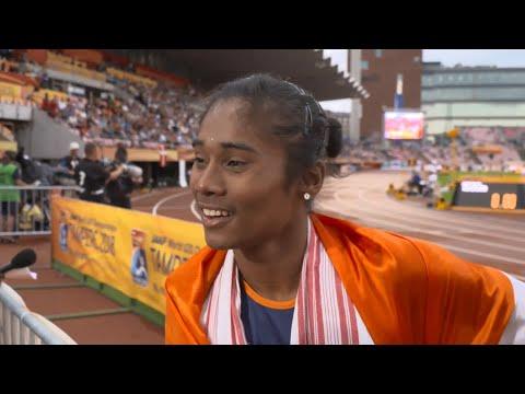IAAF World U20 Tampere - Hima Das IND 400 Metres Gold