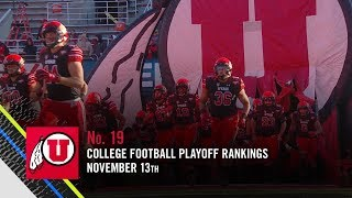 Utah reappears at No. 19 in College Football Playoff rankings