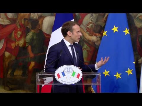 Conferenza stampa di Gentiloni e Macron (11/01/2018)