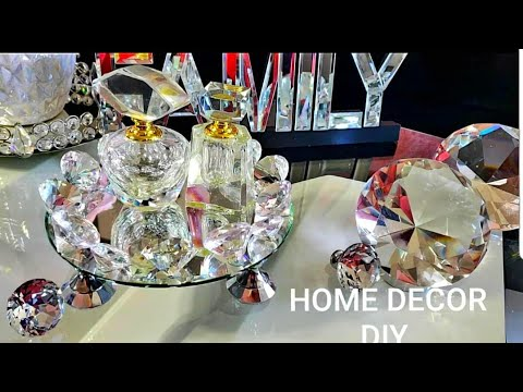 DIY COMO HACER CENTRO DE MESA 💕 BANDEJA DE DIAMANTES 💓/HOME DECOR