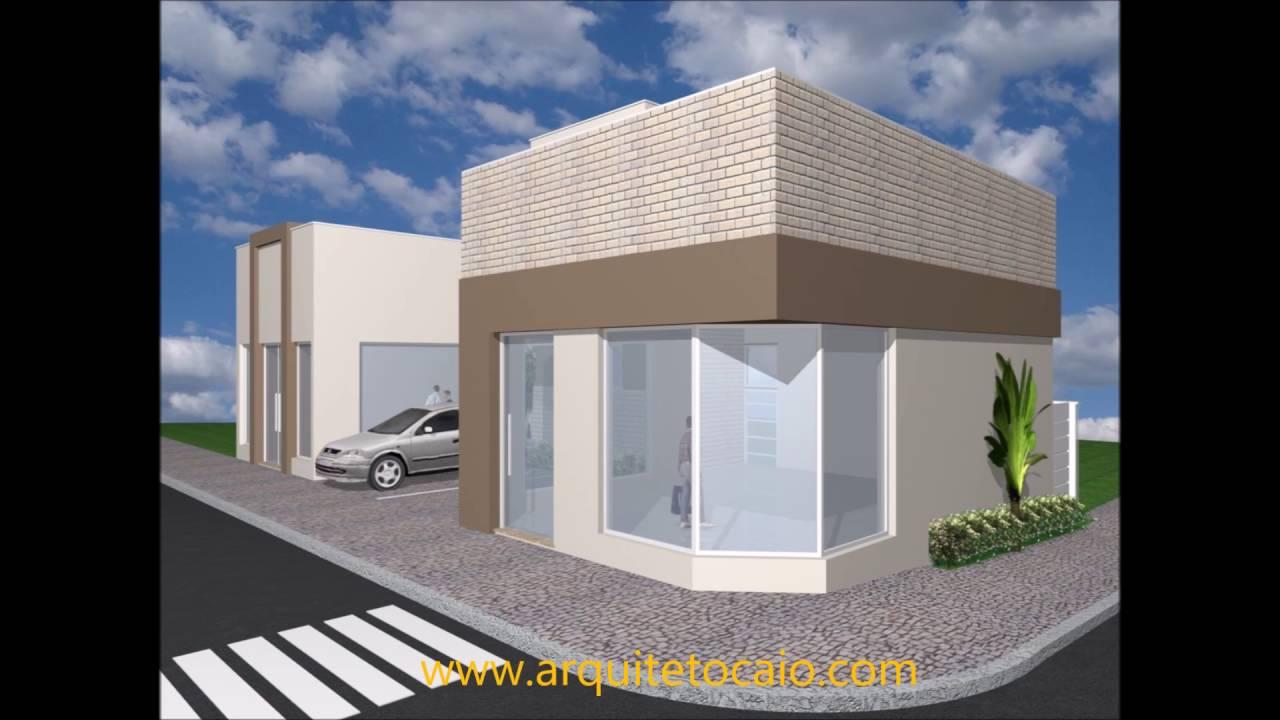 projeto salas comerciais arquitetura moderna, fachada ...