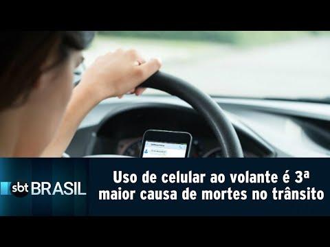 Uso de celular ao volante é terceira maior causa de mortes no trânsito   SBT Brasil (20/07/18)