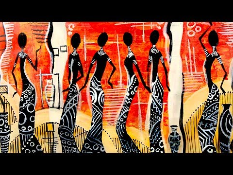 How to Paint African Dancer Silhouettes  | Narrated Art Tutorial