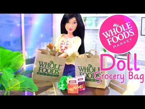 DIY - How to Make: Doll Whole Foods Grocery Bag | Quick Craft