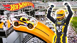 Team Hot Wheels - The Yellow Driver's World Record Jump (Tanner Foust) | Hot Wheels thumbnail
