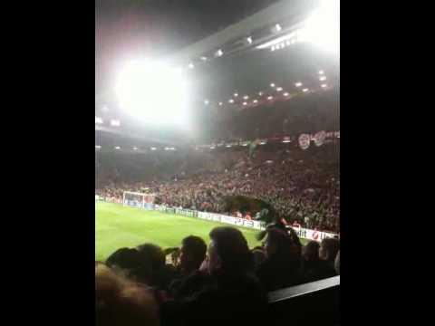 Manchester United Vs AC Milan 10th March - ANTI GLAZER CHANT LAST 10 MINS OF GAME