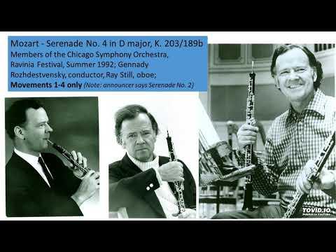 Mozart - Serenade No. 4 in D major, K. 203/189b, Mvts. 1-4