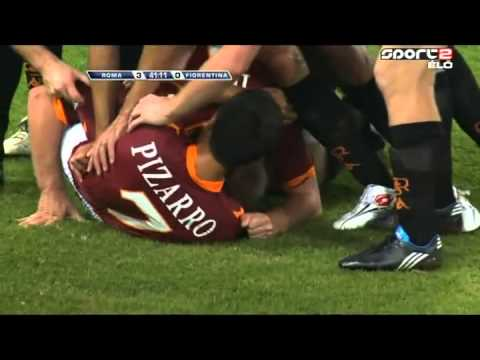 عرضية توتي رأسية دي روسي هدف ملكي خالص | R4E Network | Roma 3-0 Fiola
