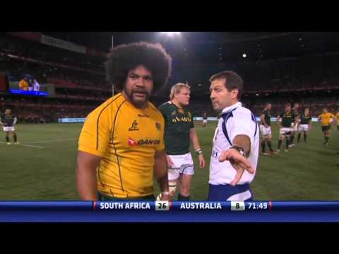 """IRB """"Referee was wrong"""" : The Rugby Championship 2012 SOUTH AFRICA vs AUSTRALIA"""