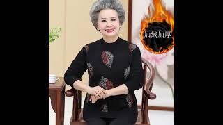 노인 70대 할머니 옷 겨울 빅사이즈 기모 스웨터 중년…