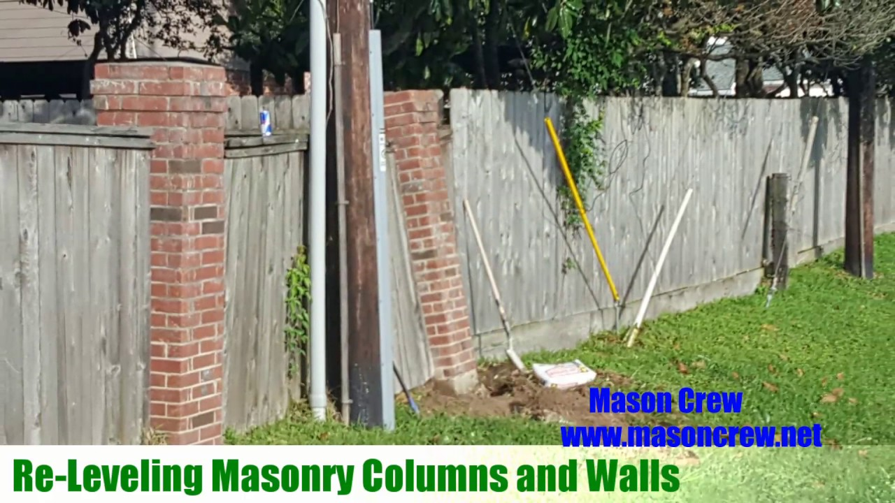 Leaning Brick Columns And Walls Spring Tx