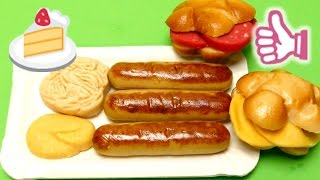 Marzipan Candy - German Sausages, French Fries & Salami & Cheese Bun