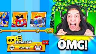 CLASHGAMES kauft den KOMPLETTEN BRAWL PASS *70 STUFEN* 🤑😨 ★ Brawl Stars deutsch