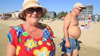 Посмотрите на ЭТОТ пляж и ЭТО Море! Я в ШОКЕ - Солнечный Берег - Болгария