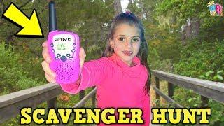 Scavenger Hunt with Retevis Walkie Talkies for Kids